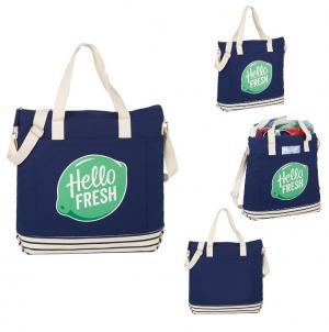 10 oz. Fresh Cotton Striped Tote Bag