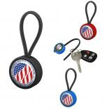 Circular Rubber Loop Key Chain