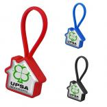 House Shaped Rubber Loop Key Chain