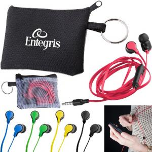 Flat Wire Earbuds with Microphone