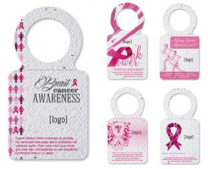 Breast Cancer Awareness Seed Paper Wine Bottle Tag