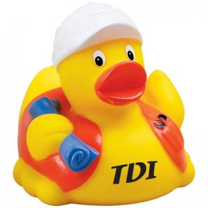 Construction Worker Rubber Ducky
