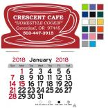 Coffee Cup Shaped Self-Adhesive Calendar