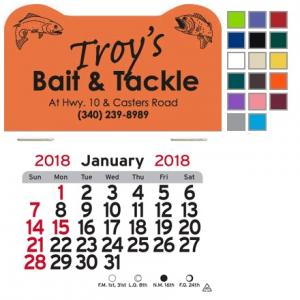 Fish Themed Self-Adhesive Calendar
