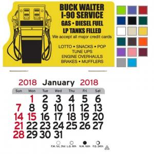 Gas Station Themed Self-Adhesive Calendar