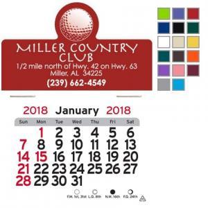Golf Ball Topped Self-Adhesive Calendar