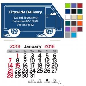 Truck Self-Adhesive Calendar