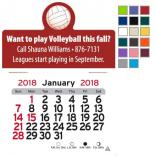 Volleyball Self-Adhesive Calendar