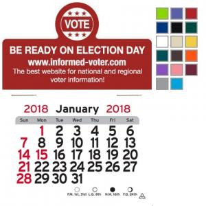 Get Out the Vote Self-Adhesive Calendar