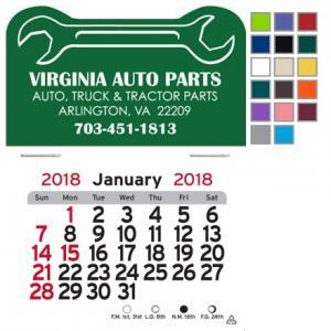 Wrench Shaped Self-Adhesive Calendar