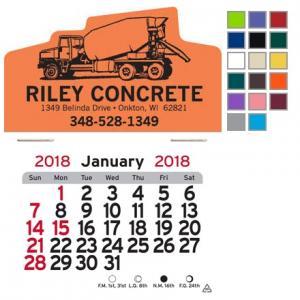 Cement Truck Self-Adhesive Calendar