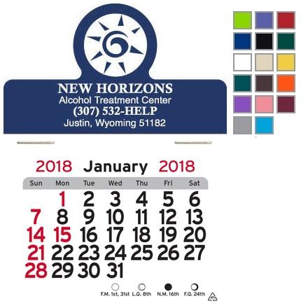 Circle Topped Self-Adhesive Calendar