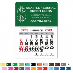 Dollar Sign Self-Adhesive Calendar