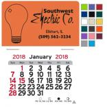 Light Bulb Self-Adhesive Calendar
