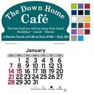 Oval Shaped Self-Adhesive Calendar