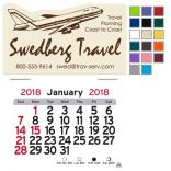 Jetsetter Travel Self-Adhesive Calendar