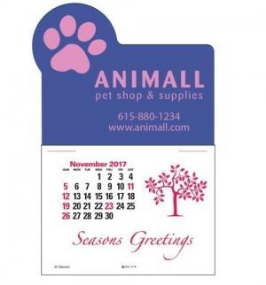 Paw Print Self-Adhesive Calendar