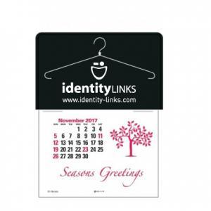 Clothes Hanger Self-Adhesive Calendar