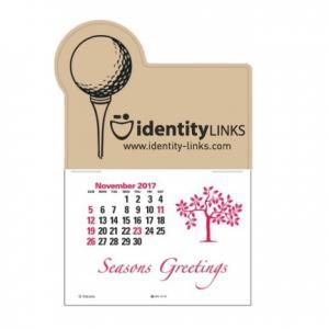 Golf Ball and Tee Self-Adhesive Calendar