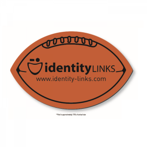 1/16 Fabric Surface Football Shaped Mouse Pad