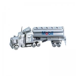 Metal Oil Tanker Truck Analog Clock