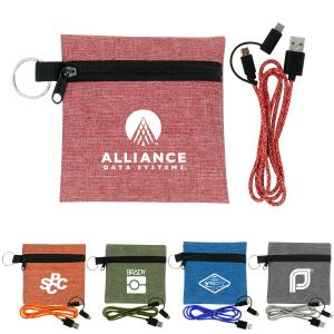 Pouch with 3' Charging Cable Set