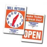 Will Return Clock Sign