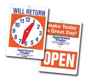 Will Return Clock Sign