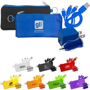 Trio Charging Set with Large Pouch
