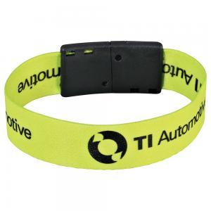 "Trendy Full Color 3/4"" Wristband w/ Clip"