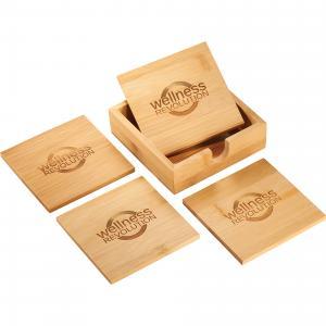 Mantis bamboo Coaster Set