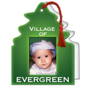 """Full Color 1 3/4"""" x 2.5"""" Tree Shaped Photo Frame"""