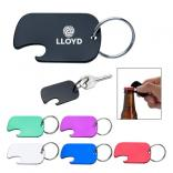 Fixo Dog Tag Bottle Opener Key Ring