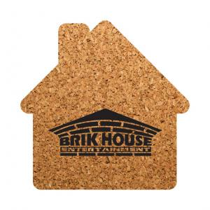 House Shaped Cork Coaster
