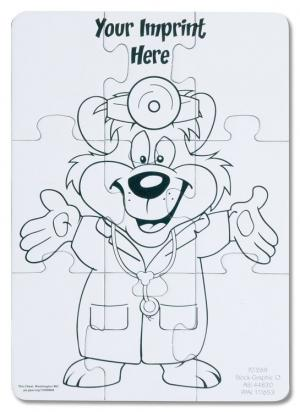 Doctor Bear Coloring Puzzle