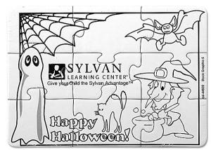 Spooky Halloween Coloring Puzzle