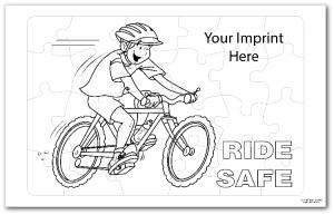 Bike Safety Coloring Tray Puzzle