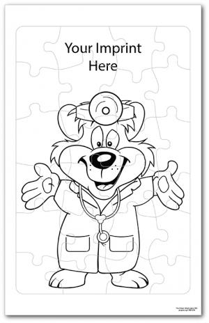 Doctor Bear Coloring Tray Puzzle