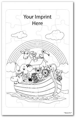 Noah's Ark Coloring Tray Puzzle