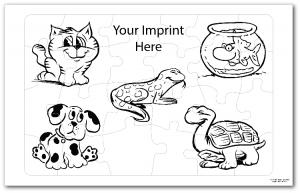 Pet Coloring Tray Puzzle