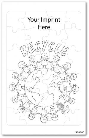 Go Green Coloring Tray Puzzle