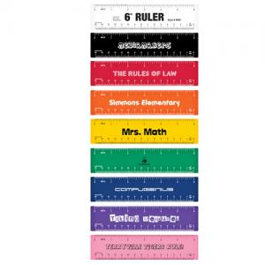 6 inch Colorful Rulers