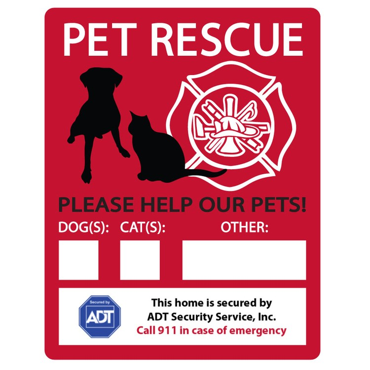 Pet Rescue Window Decal