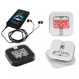Plastic Earbuds with Acrylic Case
