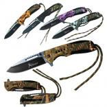Two-Tone Blade Hunting Pocket Knife with Paracord
