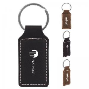 Faux Leather Key Tag