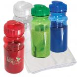 Net Cooling Towel In 20 oz Water Bottle