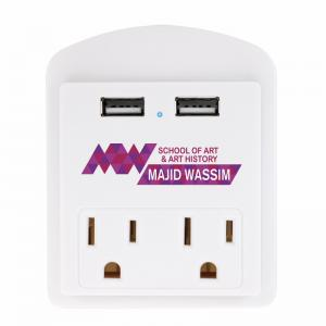 USB Wall Adapter with Phone Holder
