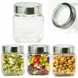 Modern Square Jar with See-Thru Lid Small