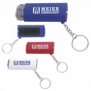 LED Light Key Chain With Screen Cleaner